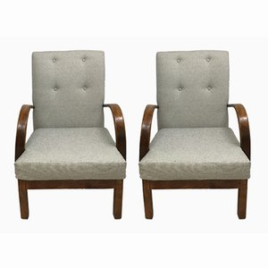 Vintage English Armchairs, Set of 2