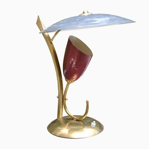 Mid-Century Brass Table Lamp by Angelo Lelli for Arredoluce