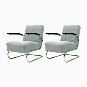 Vintage Cantilever Armchairs from Mücke Melder, 1930s, Set of 2
