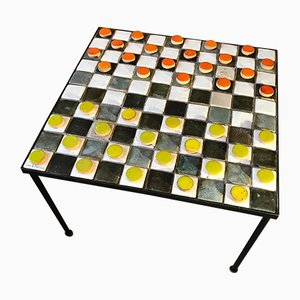 Checkers Board Coffee Table by Les 2 Potiers, 1957