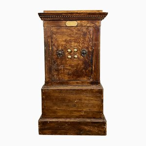 19th Century French Iron and Wood Safe from Petit Jean