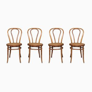 Vintage Hungarian Bistro Chairs, 1940s, Set of 4