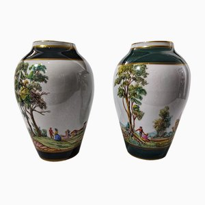 Porcelain Vases from Fundacion de Gremios, 1970s, Set of 2