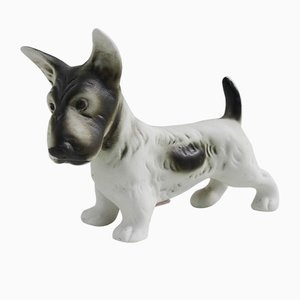 Czech Porcelain Dog Figurine from Royal Dux, 1990s