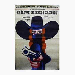 Poster del film Queens of the Wild West di W. Gorka, anni '70