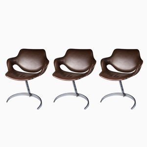 Armchairs by Boris Tabacoff for Mobilier Modulaire Moderne, 1970s, Set of 3