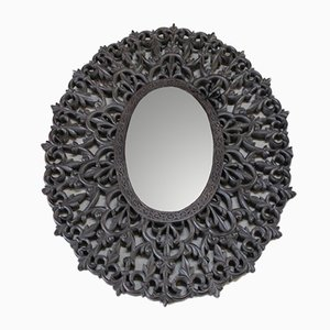Antique Carved Teak Wall Mirror