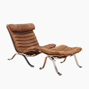 Vintage Model Ari Armchair with Ottoman by Arne Norell