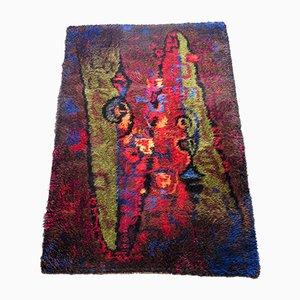 Tappeto in lana con motivo astratto di Wasa, anni '70