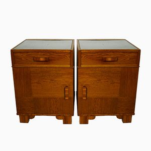 Vintage Nightstands, 1930s, Set of 2