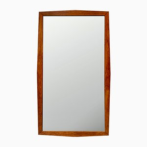 Rectangular Vintage Teak Wall Mirror, 1960s