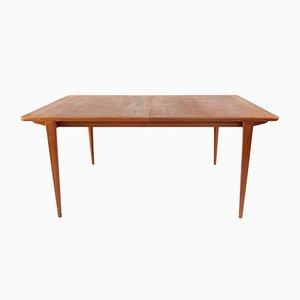 Danish Extendable Dining Table by Henry Rosengren Hansen for Brande, 1960s