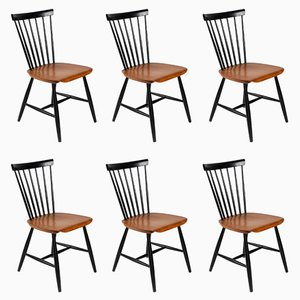 Mid-Century Chairs by Sven Erik Fryklund for Hagafors, Set of 6