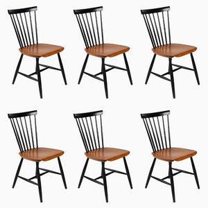 Mid-Century Stühle von Sven Erik Fryklund für Hagafors, 6er Set