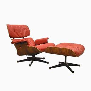 Sillón y otomana de Charles & Ray Eames para Hille, años 50. Juego de 2