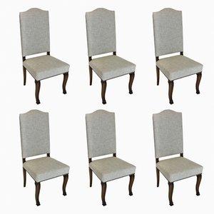Hohe französische Esszimmerstühle, 1830er, 6er Set