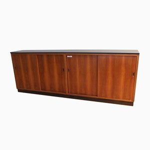 Mid-Century Walnut & Formica Sideboard, 1950s