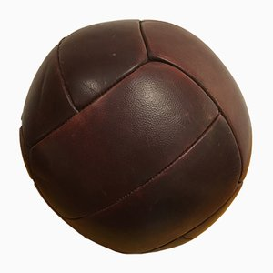 Vintage Leather Medicine Ball, 1930s