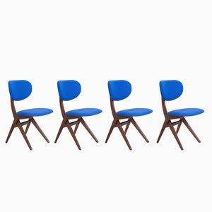 Vintage Esszimmerstühle von Louis van Teeffelen für WéBé, 4er Set
