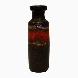 Westdeutsche Fat Lava Vase aus Keramik von Scheurich, 1960er