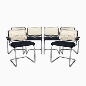 Chaises Cantilever en Acier Tubulaire, 1970s, Set de 6