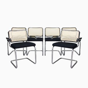 Tubular Steel Cantilever Chairs, 1970s, Set of 6
