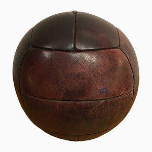 Vintage Medizinball aus Leder