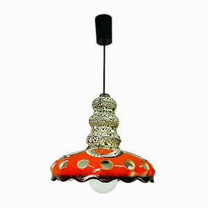 Deutsche Fat Lava Deckenlampe aus Keramik, 1960er