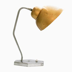 Mid-Century Gold Table Lamp from Inkop, 1960s
