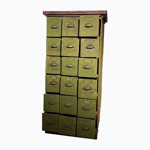 Green Metal Chest of Drawers, 1920s