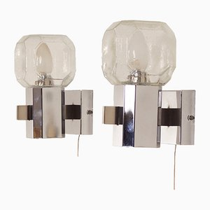 Glass Wall Lamps from Cosack, 1960s, Set of 2