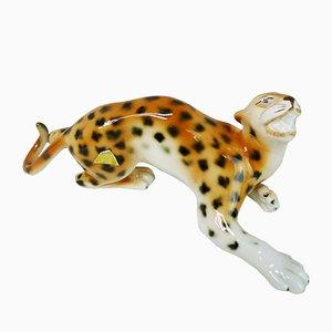 Tschechische Tigerfigur aus Porzellan von Royal Dux, 1990er