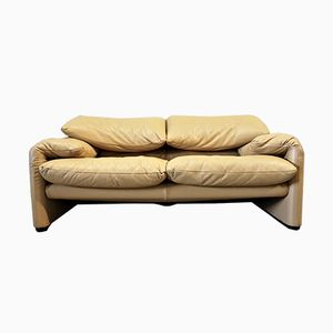 Vintage Maralunga Sofa by Vico Magistretti for Cassina, 1980s