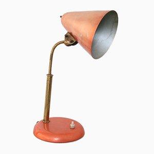Lámpara de mesa Mid-Century en color coral, años 60