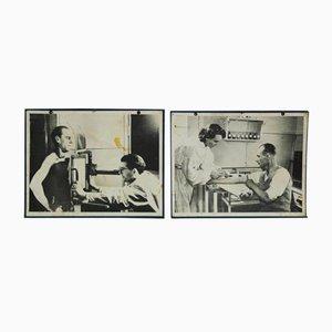 Pósteres médicos, años 50. Juego de 2