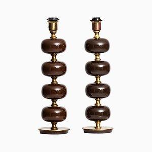 Lámpara de mesa Mid-Century de Henrik Blomqvist para Stilarmatur. Juego de 2