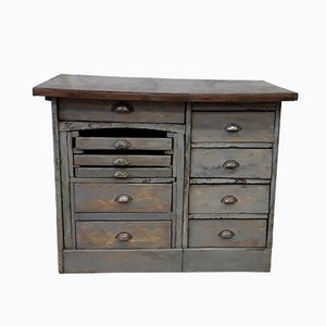 Gray Chest of Drawers with Worktop, 1930s