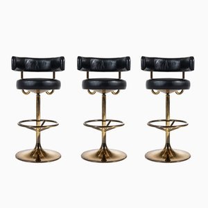 Vintage Bar Stools by Börje Johanson, 1960s, Set of 3
