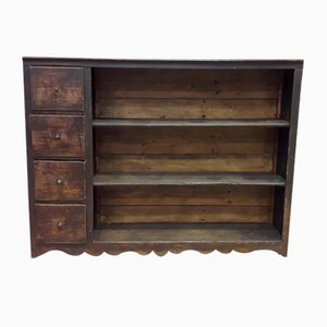 Antique Bookshelf with Drawers