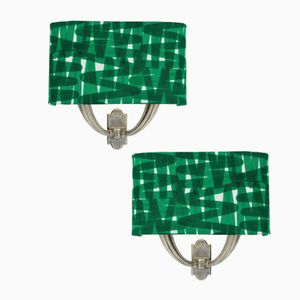Mid-Century Italian Sconces with Shades, Set of 2