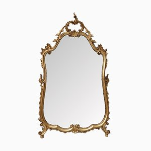 Italian Gilt Carved Wall Mirror, 1920s