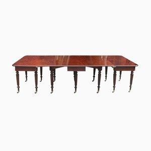 Tavolo da pranzo Giorgio IV allungabile in mogano di Gillows, 1815