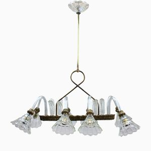 Rectangular Chandelier from Barovier & Toso, 1950s