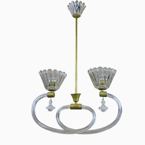 Italian Ceiling Light from Barovier & Toso, 1950s