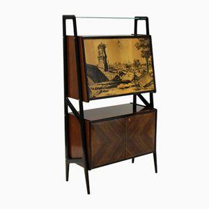 Vintage Mirrored Bar Cabinet
