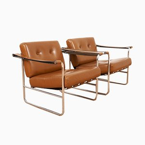 Mid-Century HE 113 Armchairs by Hans Eichenberger for de Sede, Set of 2