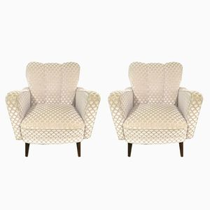 Art Deco Lounge Chairs, 1940s, Set of 2