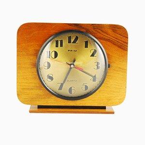 Reloj de chimenea en color avellana de Prim, años 60