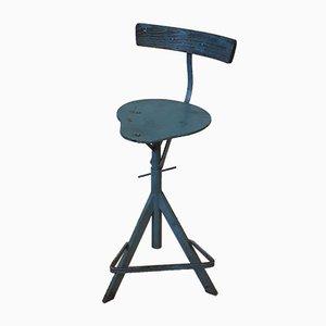Vintage Blue Workshop Chair