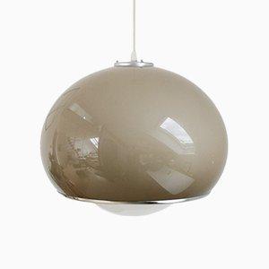 Vintage Brown Big Bud Pendant Lamp by Harvey Guzzini for Meblo